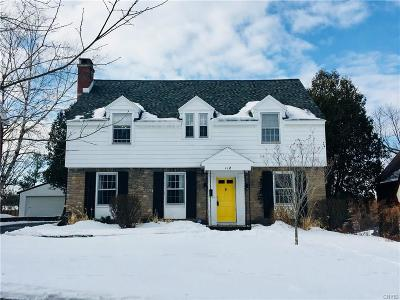 Syracuse Single Family Home U-Under Contract: 112 Harrington Road