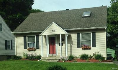 Syracuse Single Family Home U-Under Contract: 209 Revere Road