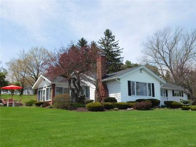 Cayuga County Single Family Home For Sale: 5529 W Lake Road