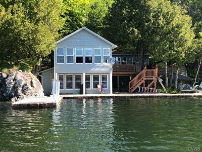 St Lawrence County Single Family Home For Sale: 15 N Shore Rd/Prvt
