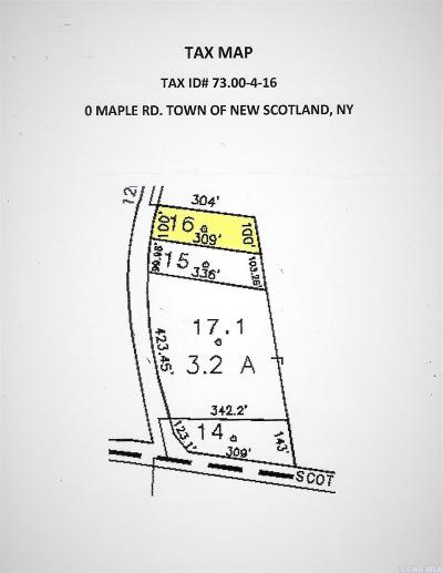 New Scotland NY Residential Lots & Land For Sale: $74,900