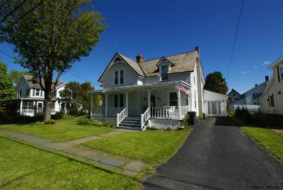 Albany County, Saratoga County, Schenectady County, Warren County, Washington County Single Family Home For Sale: 20 Mettowee-Street Street