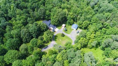 Saratoga County Single Family Home For Sale: 912 Charlton Rd