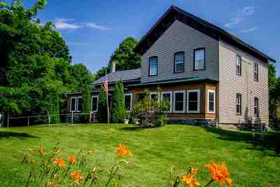 Saratoga County Single Family Home Back On Market: 720 Route 32n