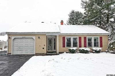 Cohoes Single Family Home For Sale: 17 Meadowlark Dr