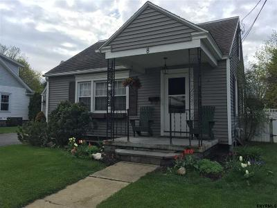 South Glens Falls Single Family Home For Sale: 8 Jackson Av