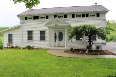 Albany County, Columbia County, Greene County, Fulton County, Montgomery County, Rensselaer County, Saratoga County, Schenectady County, Schoharie County, Warren County, Washington County Single Family Home For Sale: 411 Karas Rd