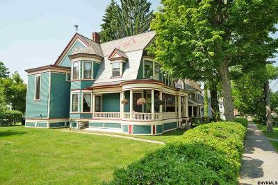 Saratoga County Single Family Home For Sale: 100 Lake Av
