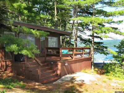 Lake George, Bolton Single Family Home For Sale: 5 Fourteen Mile Island