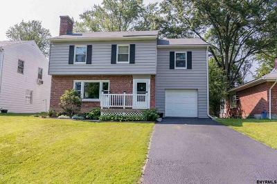 Albany, Amsterdam, Cohoes, Glens Falls, Gloversville, Hudson, Johnstown, Mechanicville, Rensselaer, Saratoga Springs, Schenectady, Troy, Watervliet Single Family Home For Sale: 188 Euclid Av