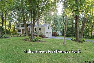 Guilderland Single Family Home For Sale: 21 Pinewood Rd