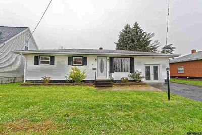 Cohoes Single Family Home For Sale: 49 N North Reservoir St