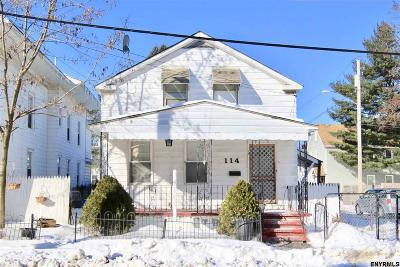 Schenectady Single Family Home For Sale: 114 Prospect St