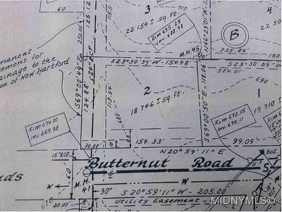 New Hartford Residential Lots & Land For Sale: Butternut Road