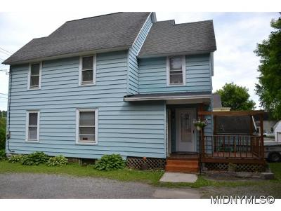 Herkimer NY Single Family Home For Sale: $48,500