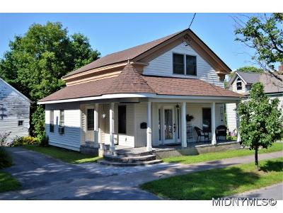 Boonville NY Single Family Home For Sale: $89,500