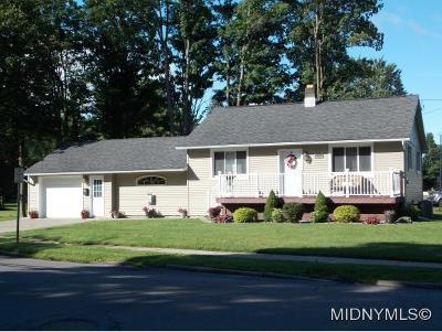 New York Mills Single Family Home For Sale: 17 Henderson Street