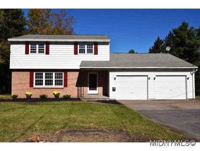 New Hartford Single Family Home For Sale: 9557 Chapman Road