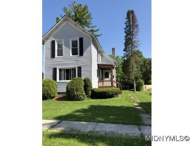 Boonville NY Single Family Home For Sale: $59,000