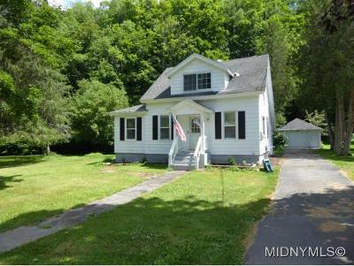 Waterville NY Single Family Home For Sale: $89,900