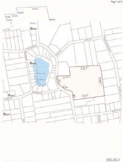 Middle Island Residential Lots & Land For Sale: Church Ln