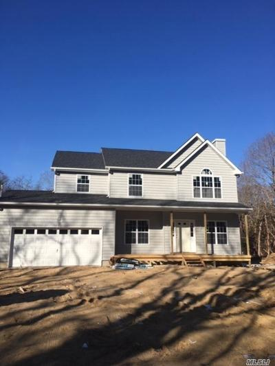 East Moriches Single Family Home For Sale: Lot 3 Private Rd