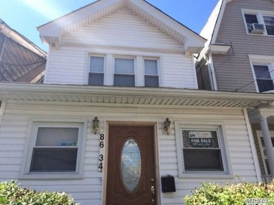 Woodhaven Single Family Home For Sale: 86-34 96th St