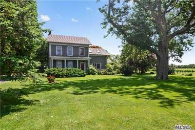 Cutchogue Single Family Home For Sale: 4270 Oregon Rd