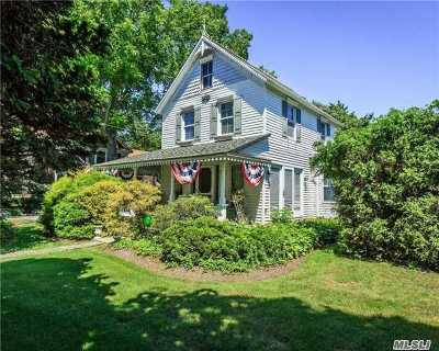 Center Moriches Single Family Home For Sale: 55 Railroad Ave