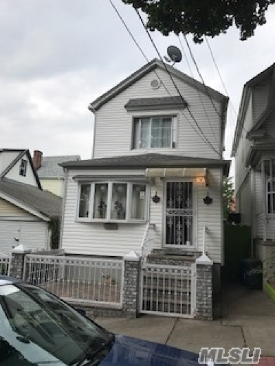 Woodhaven Single Family Home For Sale: 85-10 79th St