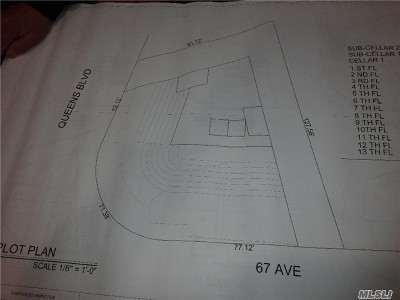 Queens County Residential Lots & Land For Sale: 67-02 Queens Blvd