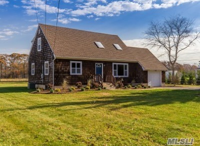 Cutchogue Single Family Home For Sale: 1605 Little Neck Rd