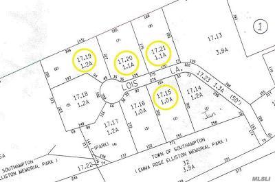Southampton Residential Lots & Land For Sale: 7 Lois Ln