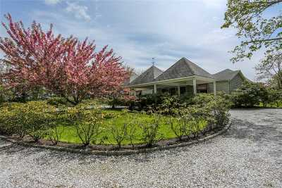 Water Mill Single Family Home For Sale: 110 Montauk Hwy