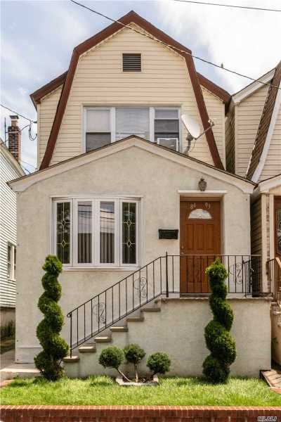Kew Gardens Single Family Home For Sale: 84-93 129th St
