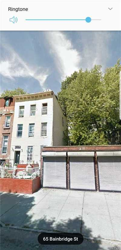 Brooklyn Multi Family Home For Sale: 65 Bainbridge St