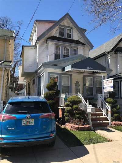 Woodhaven Single Family Home For Sale: 85-70 98th St