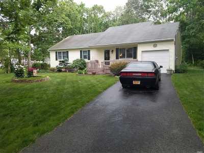 Ridge Single Family Home For Sale: 38 Ridge Rd