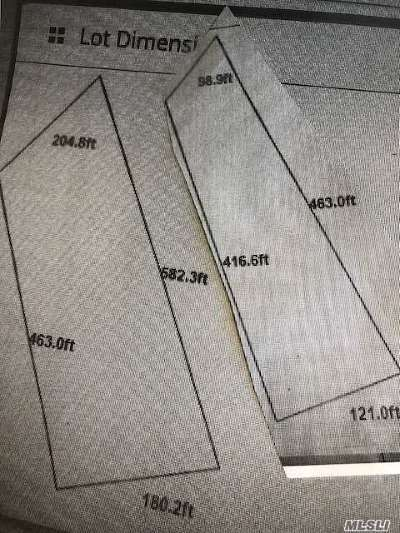 Hauppauge Residential Lots & Land For Sale: 2 Lots Wheeler