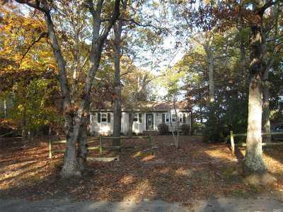 Southampton Single Family Home For Sale: 86 Straight Path