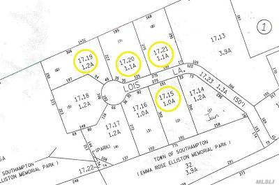Southampton Residential Lots & Land For Sale: 11 Lois Ln