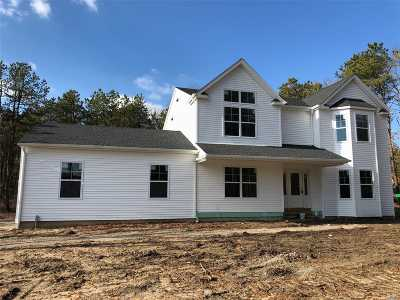 Center Moriches Single Family Home For Sale: N/C Lot C Cozine