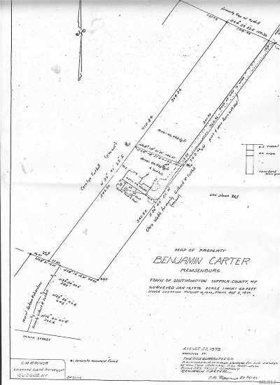 Remsenburg Residential Lots & Land For Sale: 43 Matthews Dr