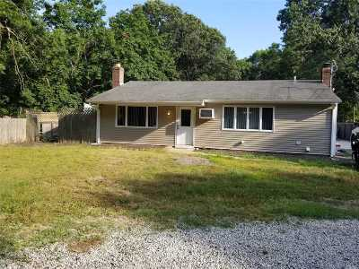 Middle Island Single Family Home For Sale: 136 Whiskey Rd