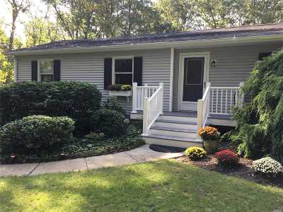 East Moriches Single Family Home For Sale: 50 Mill Pond Ln