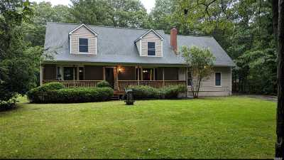 Manorville Single Family Home For Sale: 375 Wading River Rd