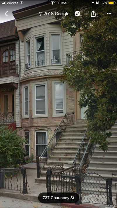 Brooklyn Multi Family Home For Sale: 735 Chauncey St.
