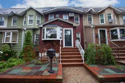 Astoria, Sunnyside, Woodside, Long Island City, Middle Village, Rego Park, Kew Gardens, Bayside, Jackson Heights, E. Elmhurst, Forest Hills, Maspeth, Ridgewood, Glendale Single Family Home For Sale: 78-35 76th St