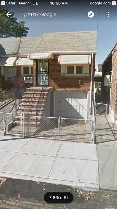 Maspeth Single Family Home For Sale: 58-08 63 St