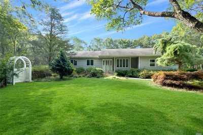 Remsenburg Single Family Home For Sale: 1580 Speonk Riverhead Rd